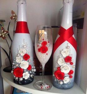 Свадебный набор (шампанское и бокалы)