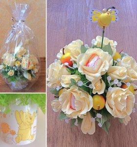 Букет с конфетами Raffaello изготавливаю на заказ