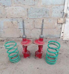 Газовые стойки с пружинами на ВАЗ-09-14