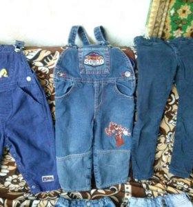 Комбез-джинсы на мальчика от 6 мес до 2.5