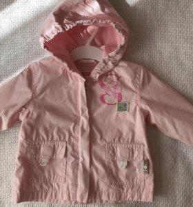 Куртка ветровка для девочки Guliver 74см 80 см