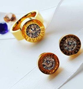 Новые сережки кольцо