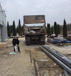 Вывоз строительного мусора 12 кубов камаз