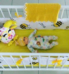 """Бортики в кроватку """"Пчелка"""""""