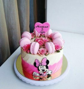 Торт с цветами.