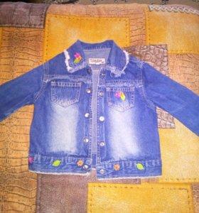 Курточка джинсовая весна глория джинс