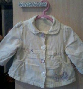 Пальто на весну размер 62-68