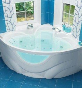 Ванна акриловая ЛЮКС со стеклом
