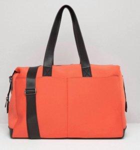 Спортивная сумка ярко красная/чёрная