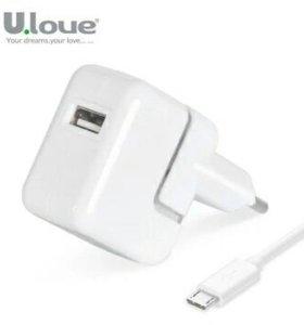 Новое зарядное устройство с кабелем usb-micro usb