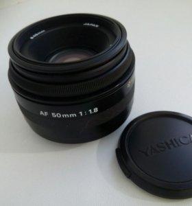 Объектив yashica f 1.8 50mm