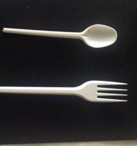 Пластмассовая одноразовая посуда(приборы)