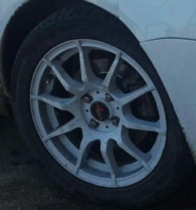 Белые диски R15 195/50