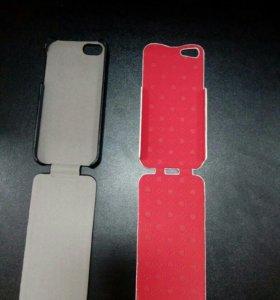 Флип-кейс iPhone 5 кожа