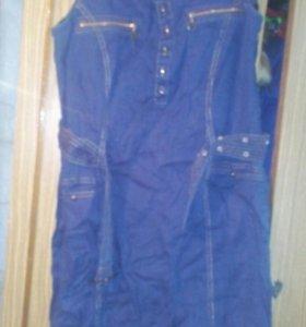 Платье- сарафан джинсовый