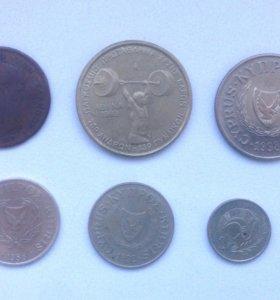 Лот монет Греции и Кипра
