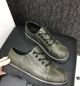 Ботинки зеленые