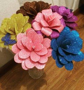 Цветы из фоамерана