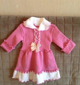 Платья теплые для малышки новые