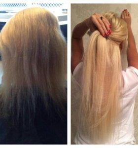 Наращевание волос(ленточное)