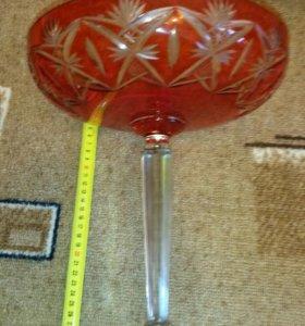 ваза хрусталь для фруктов ссср