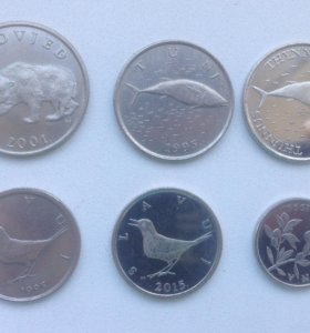 Лот монет Хорватии