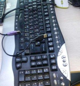 Клавиатура, мышь проводная