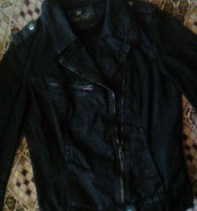 Джинсовая куртка-косуха ZARA