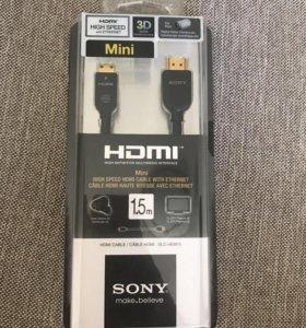 Mini hdmi кабель SONY