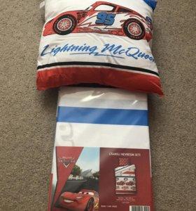Постельное белье + подушка новое