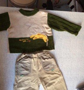 Детский свитер и вельветовые джинсы