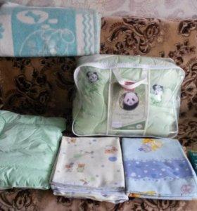Кровать качалка + постельные принадлежности+ подар