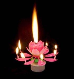 Музыкальная крутящаяся свеча