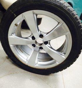 235/50/r18 Dunlop колёса, на запаску