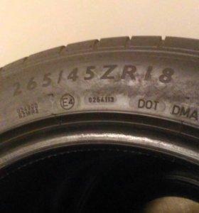 Разноширокая резина Dunlop R18 235/45 265/45