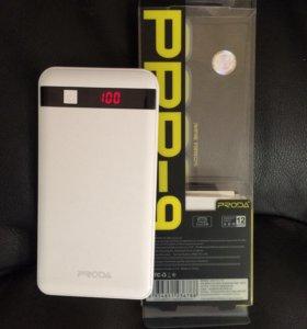 Портативный аккумулятор proda 12000mah