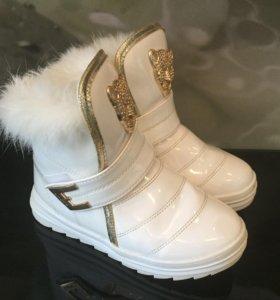 Ботинки зимние р.35