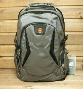 Рюкзак Swissgear, серый, 2 отделения