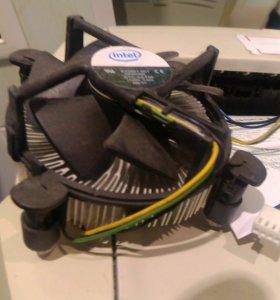 Кулер Интел боксовый слимовский на сокет 775 рабоч