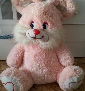 Розовый заяц, зайчик, зайка