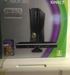 Xbox 360 250 gb + kinect + 3 game