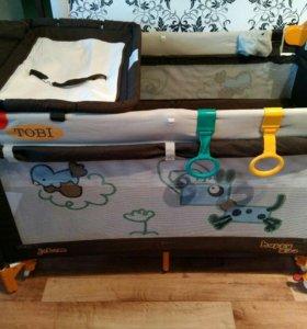 Детский манеж-кроватка 2 в 1 Jetem C1