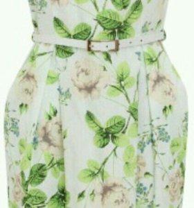 Нежное новое летнее платье с ремешком