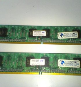 Оперативная память ПК PQI (DDR2) 256 mb.