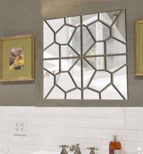 Наклейки зеркальные новые клеящиеся