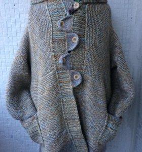 Вязаное пальто в стиле Бохо (размер-52 и больше)