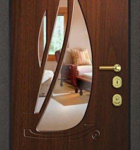 Входная дверь сд12 с зеркалом