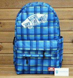 Рюкзак Vans, голубой с синими полосками