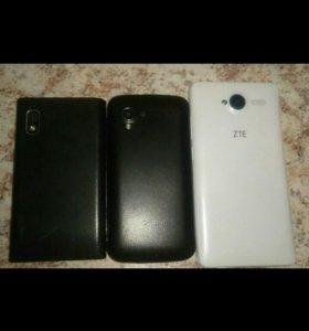 3 телефона ZTE,LG,EXPLAY