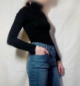 Водолазка, джинсы